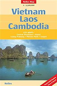Download Vietnam - Laos - Cambodia Nelles Map (English, French and German Edition) djvu